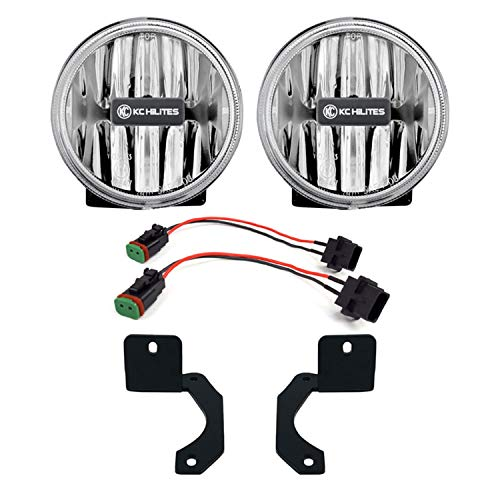 KC HiLiTES 509 Gravity LED G4 Amber Fog Lights for Jeep JL Moab & JT-Rubicon Steel Bumper