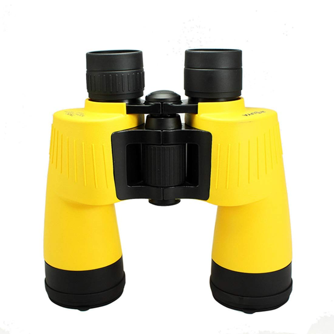 ZGQA-GQA 10x50 Compact HD Binoculars for Kids and Adults, Folding Spotting Telescope for Bird Watching Outdoor Camping, Best Gift for Boys,Girls for Adult (Color : Yellow) by ZGQA-GQA