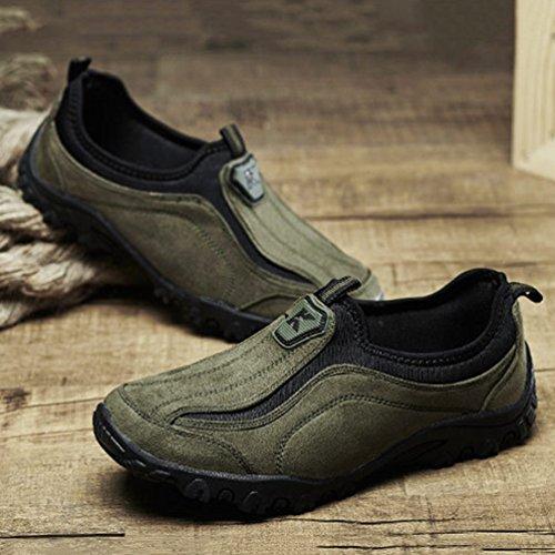 Basket 45 Basse sans Lacet Homme Paresseuse Chaussure Vert Mode Chaussure Casuel 39 Loafer pour Marcher f5npOFwx