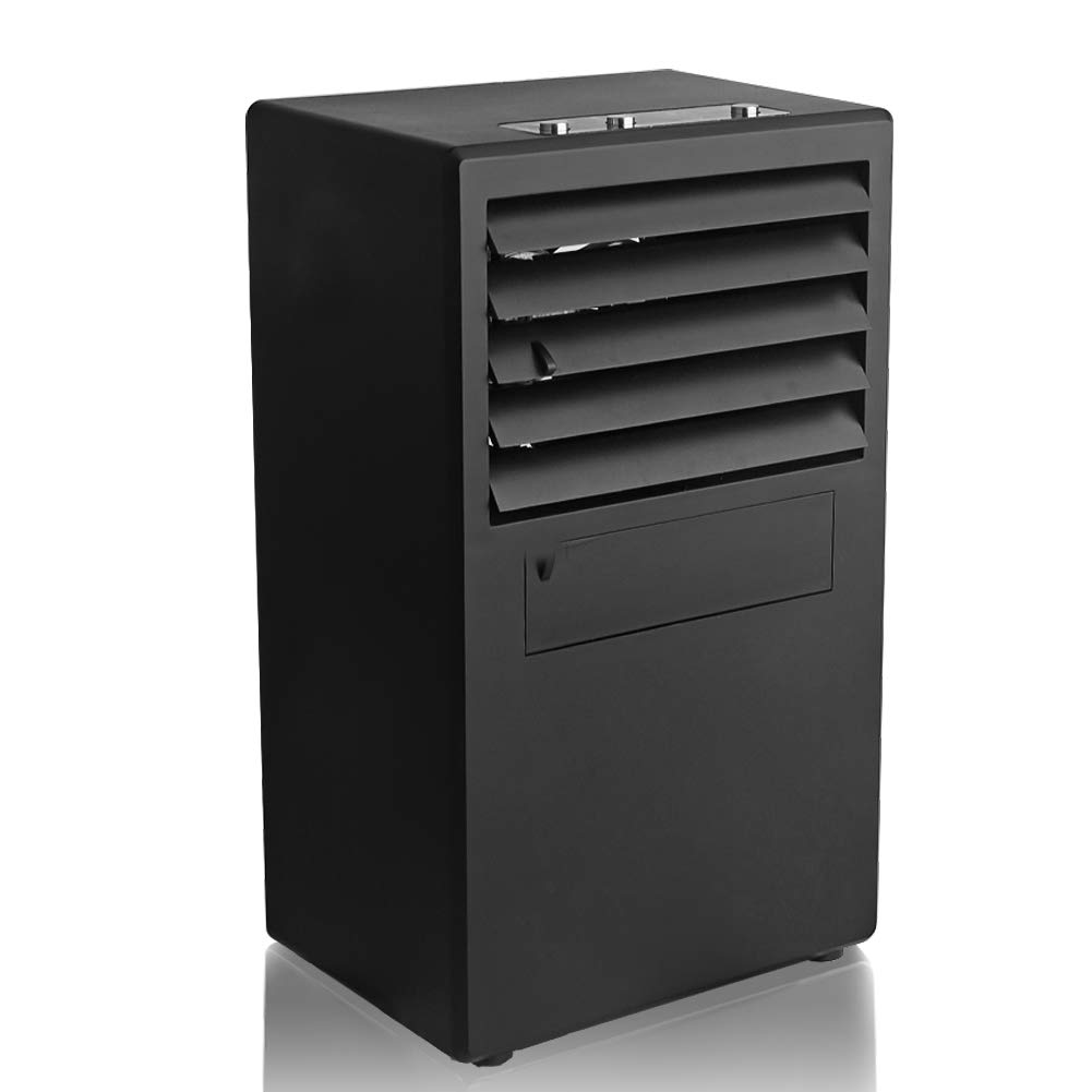 BellaElegance Air Conditioner Fan Portable Desk Air Conditioning Fan Air Cooler Misting Fan Humidifier Bladeless Quiet for Office Home Kids (Black)