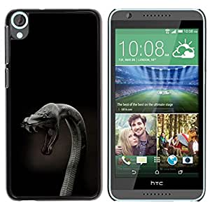 LECELL -- Funda protectora / Cubierta / Piel For HTC Desire 820 -- Cobra Snake Close Up --