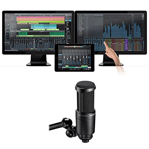 Package: Presonus Studio One 3.0 Professional Audio MIDI Recording DAW Full Software With iPad Integration + Audio Technica AT2020 cardioid condenser microphone system (Audio Integration)