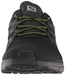 Salomon Men\'s Crossamphibian Swift Athletic Sandal, Black/Phantom/Sulphur Spring, 10 M US