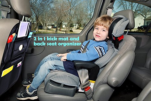 Car Back Seat Organizer Ohuhu 1 Pack Backseat Organizer With 7 Large Pockets For Baby Travel Accessories PU Leather Auto Seat Back Kick Mats For Kids Backseat Protector Storage Bag