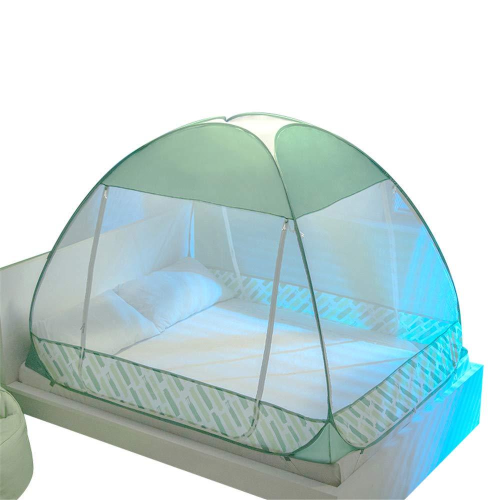 Mongolian Mosquito net Three-Door Mosquito net Folding Mosquito net Travel Mosquito net Outdoor Mosquito Insect net, Green, 200180150cm