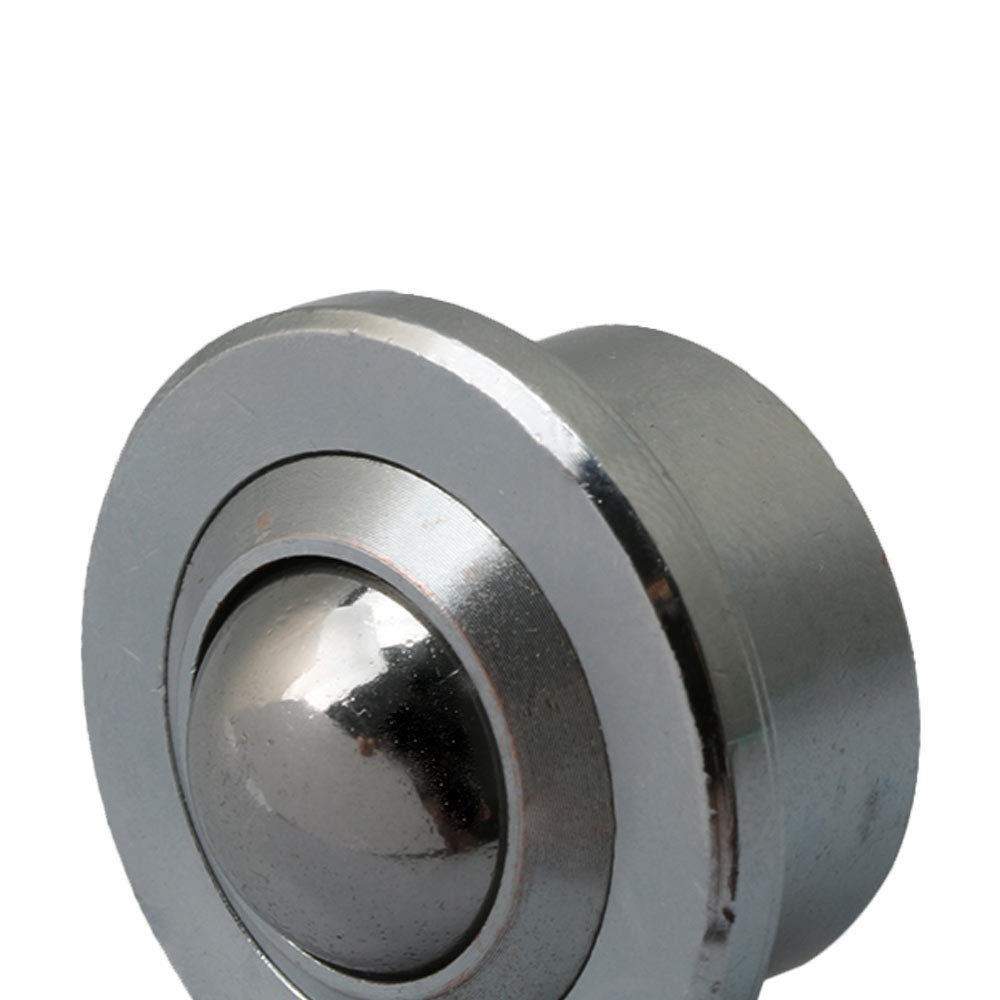 resistente color plateado rodillo de acero mecanizado Rodamiento de transferencia de metal con bola de 15 mm de di/ámetro BQLZR