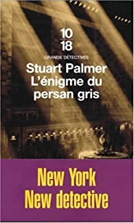 L'énigme du persan gris par Stuart Palmer
