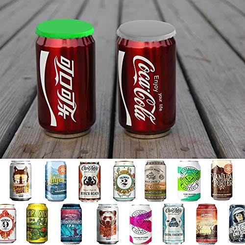 Soda Can Lids 6-Pack, 6 Colors Gooze Silicone Soda Saver Can Lids, Soda/Beverage/Beer Can Lids, Can Covers, Can Caps, Can Topper, Can Saver, Can Stopper, Cans Mark, Protector For Standard Cover