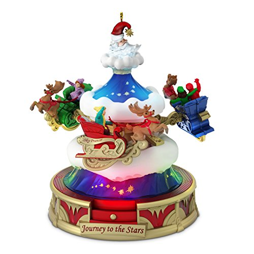 Hallmark Keepsake Ornament 2018 Year Dated, Christmas Carnival Journey to The Stars with Music, Light and Motion Ride