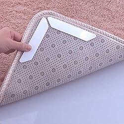 YJYdada 8Pcs Carpet Pad Non Slip Sticker Anti Slip Mat Pads Anti Slip (White)