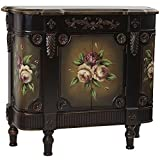 """vintage french doors Nearly Natural 7014 French Vintage Style Floor Cabinet, 31.25"""" x 11.75"""" x 28"""", Brown"""
