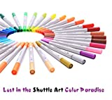 Shuttle Art 56 Colors Dual Tip Brush Pens Art Markers,Brush Tip with Fineliner 0.4 Markers Pen Set for Adult coloring books