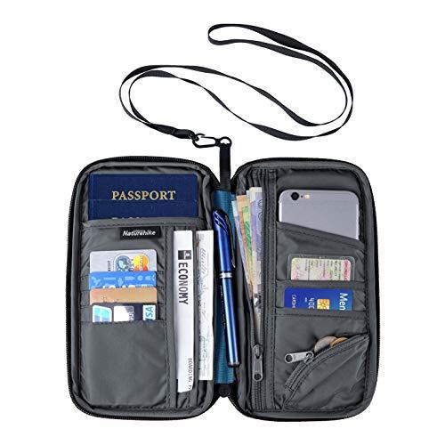 Naturehike Multifunktionale Reise-Geldbörse, Reisepasshalter, Reise-Organizer, Brieftasche für Karten, Geld, Ticket, Mobile, blau, Einheitsgröße