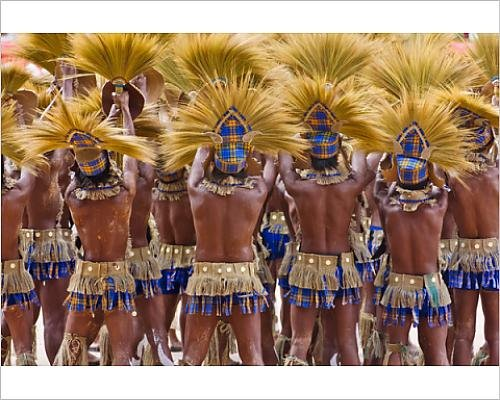 Festival Costumes In The Philippines (Photographic Print of Parade at Dinagyang Festival, City of Iloilo, Philippines)