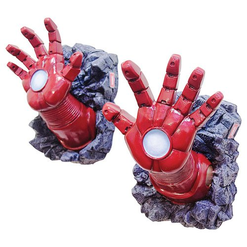 Authentic Iron Man Costumes Adults (Rubie's Marvel Universe Wall Breaker, Iron Man Hands)