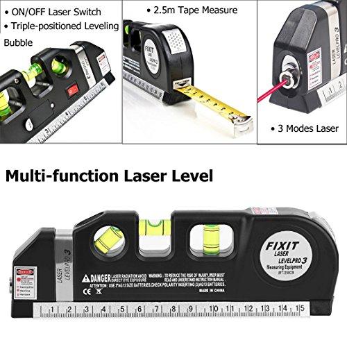 Yurieso Laser Measuring Tape Multipurpose Laser Level Kit