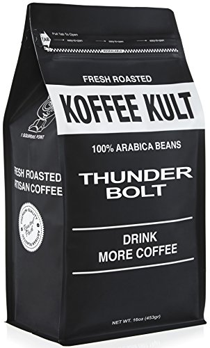 Thunder Bolt Coffee 1 Pound Ground French Roast Colombian Fr
