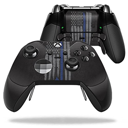 MightySkins Protective Vinyl Skin Decal for Microsoft Xbox One Elite Wireless Controller case wrap cover sticker skins Thin Blue Line K9