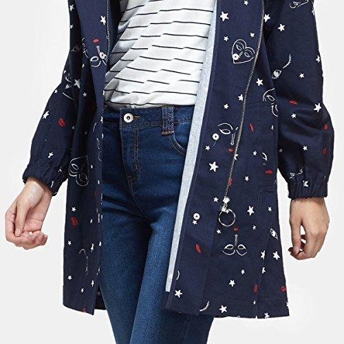 Abrigo Capucha Abrigo Capucha con Genuina Femenino Love Coat LQABW Trench Pattern Stars con On6qt8Xv