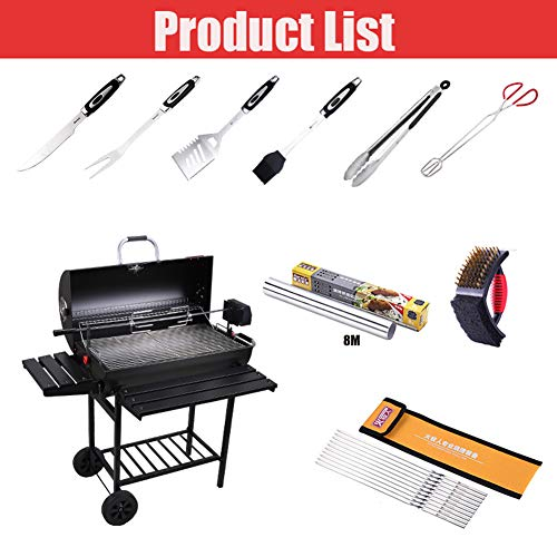 YAXuan BBQ Grill Outdoor Smoker Barbecue Portable BBQ Grill Charcoal Barbecue Tool Kits for Camping Picnic Outdoor…