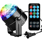 COIDEA Karaoke Machine Party Lights 3W Disco Ball Lights Dj Light LED Stage Light 7 Colors Sound Activated Strobe...