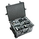 Equipment Case: 19.38'' x 24.81'' x 13.88'' Color: Black, Interior: No Foam