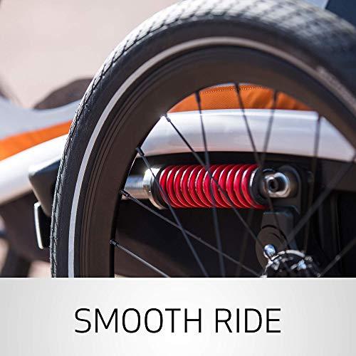 51BPVyWSXQL - Hamax Outback Reclining Multi-Sport Child Bike Trailer + Stroller - 2020 Model (Jogger Wheel Sold Separately) (Navy/White, One Seat)