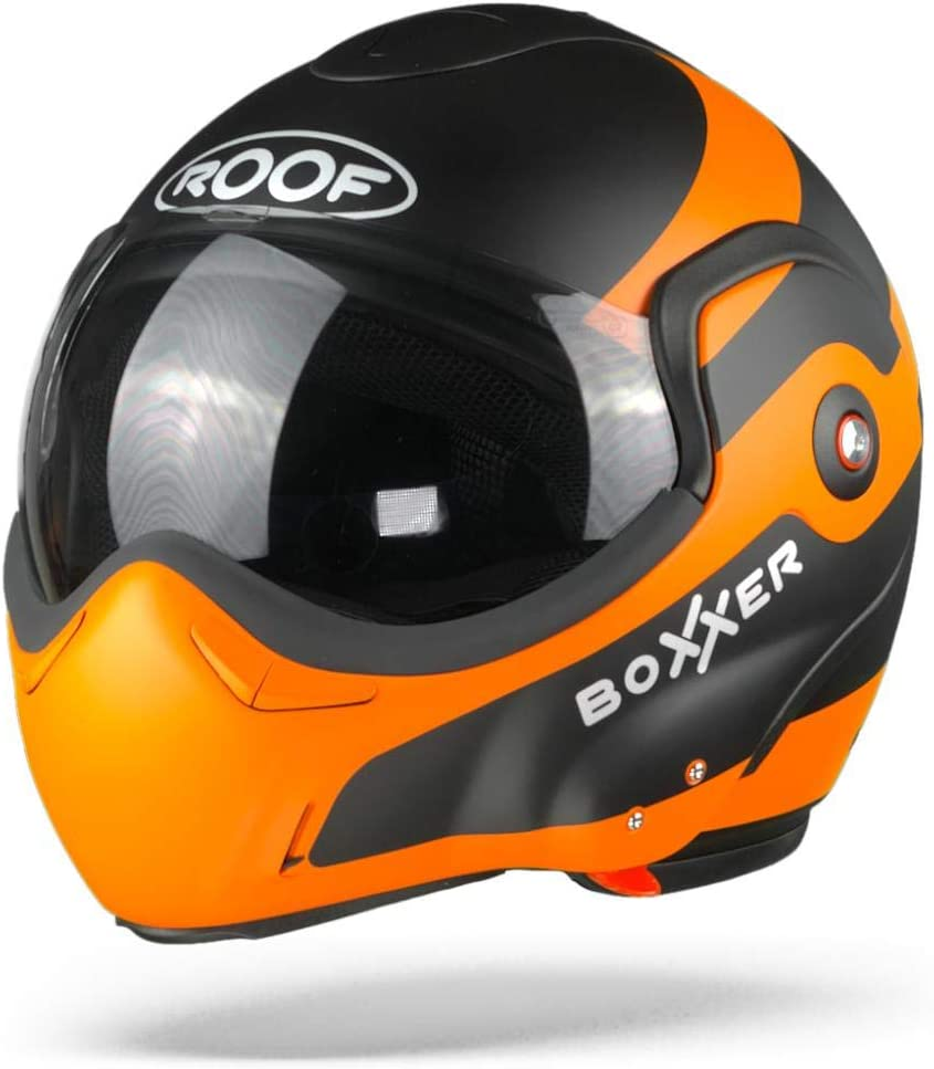 ROOF BOXXER FUZO MATT ORANGE BLACK MODULAR HELMET XS