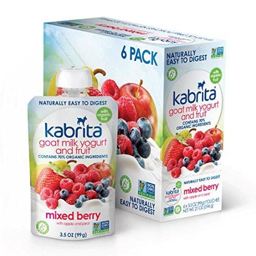 Kabrita Goat Milk Yogurt and Fruit, Mixed Berry, 3.5 oz (Pack of 6)