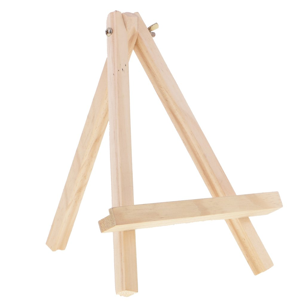 MagiDeal 16cm Wooden Artist Mini Easel Stand Painting Canvas Craft Exhibit Display
