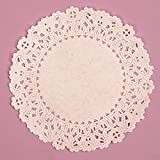 5 Inch Round White Normandy Lace Paper Doilies - 100 Pack