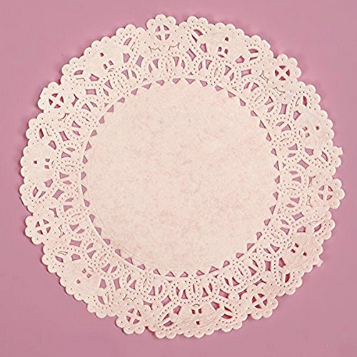 5 Inch Round White Normandy Lace Paper Doilies - 100 Pack by Sophie's Favors and Gifts