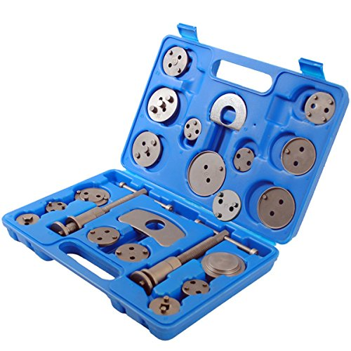 (22 pcs Brake Caliper Piston Rewind Wind Back Tool Kit Universal for Audi BMW Honda Ford Mazda Toyota etc,Blue)