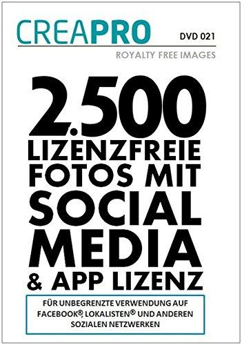 CreaPro DVD mit 2.500 Fotos für Soziale Netzwerke wie Facebook, Lokalisten, Social Media, App-Anwendungen, Templates, Homepage-Baukasten, Firmen-Bilddatenbanken u.v.m. in Web-Auflösung