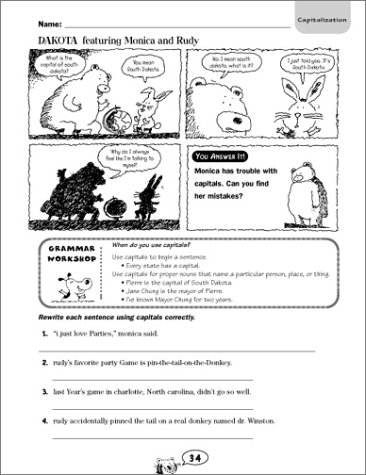 Math Worksheets fun middle school math worksheets : Amazon.com: Comic-Strip Grammar: 40 Reproducible Cartoons with ...