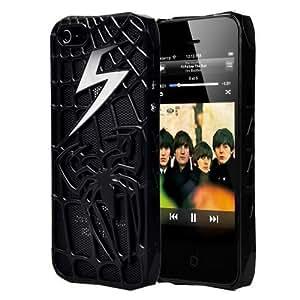 Premium Spiderman Style Black Matte Metallic Spider Web Hard Case For the NEW Apple iPhone 5 (AT&T, Verizon, Sprint) by ruishername