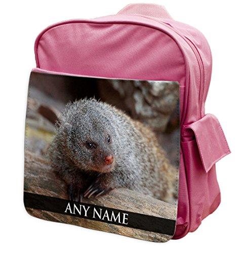 personalisierbar Mongoose Animal Pink Rucksack Rucksack 207
