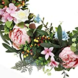 Wreath for front door for all seasons w/ hanging hook – Ideal for Indoor Decoration– 22 Inch Diameter -packed in a storage box. Great Housewarming Gift! Review