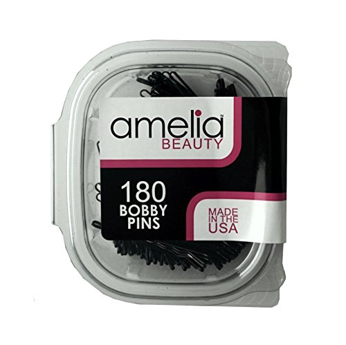 180 Bobby Pins in a Recloseable Container (Black)