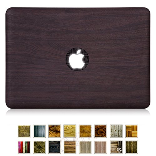 MacBook Air 13 Case, YMIX Smooth Plastic Hard Shell Protective Case Cover for Apple MacBook Air 13.3 inches (A1466 & A1369) (Wood Grain E)
