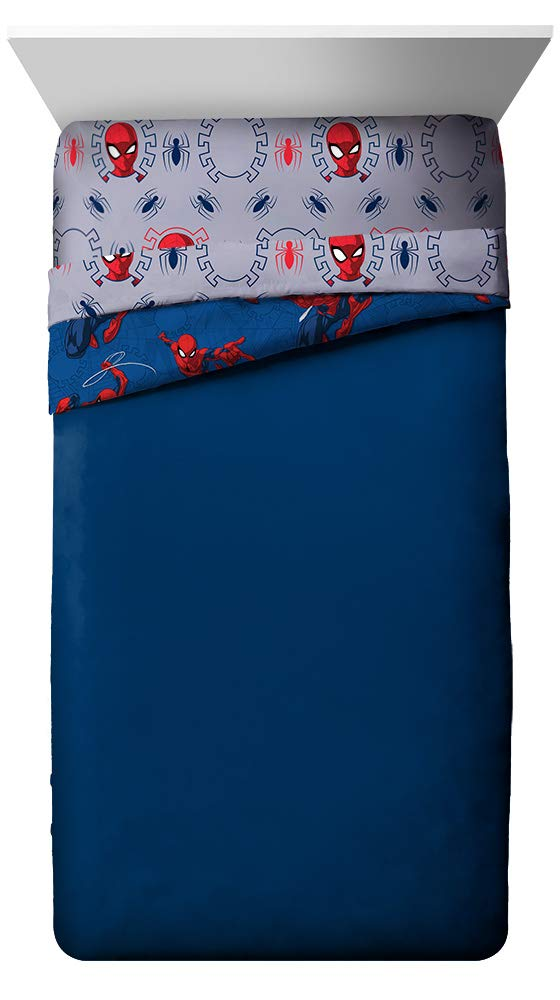 Jay Franco Marvel Spiderman Spidey Crawl Full Comforter - Super Soft Kids Reversible Bedding - Fade Resistant Polyester Microfiber Fill (Official Marvel Product) by Jay Franco (Image #3)