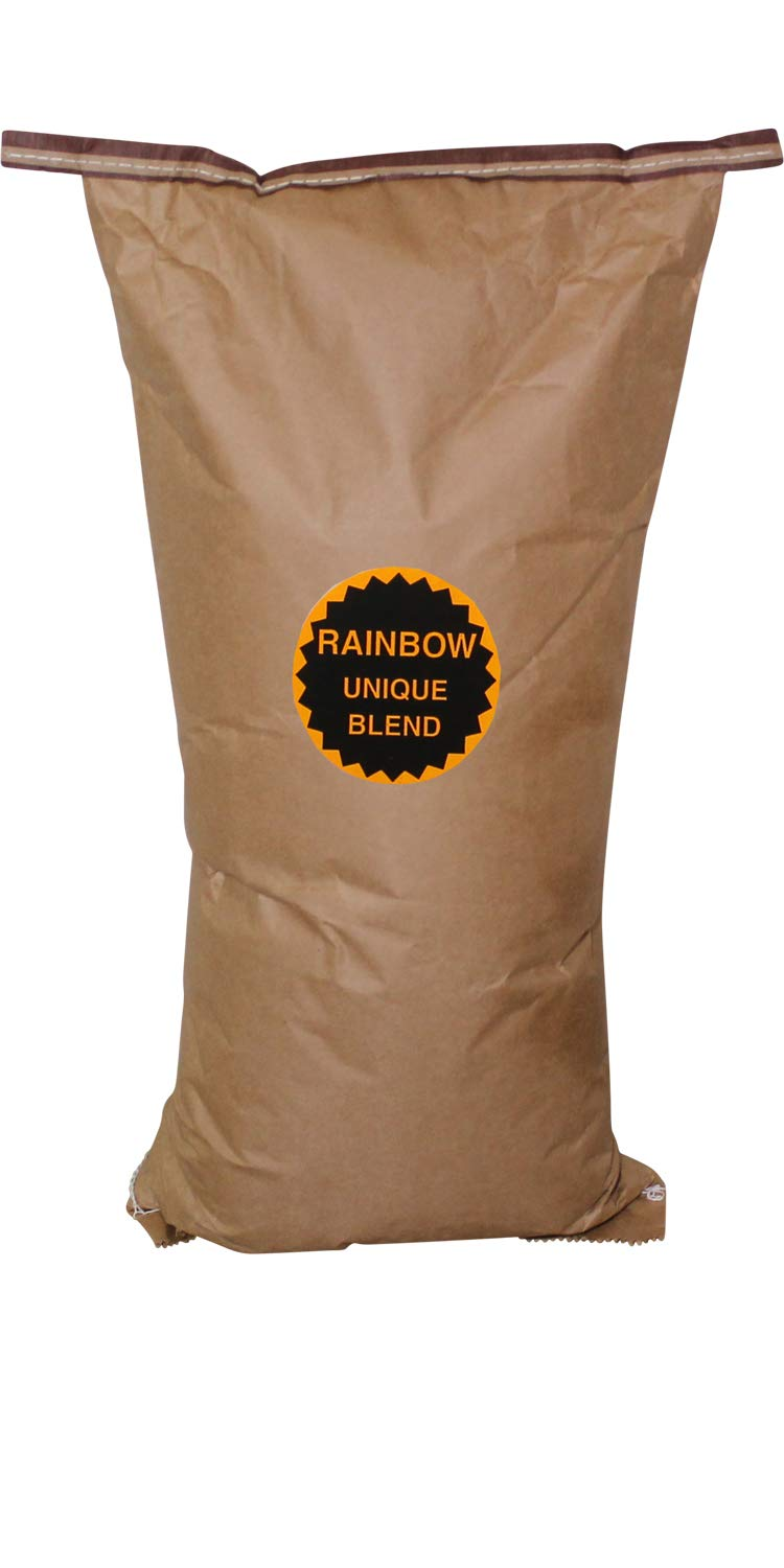 Amish Country Popcorn - Rainbow Unique Blend (50 Pound Bag) - Old Fashioned, Non GMO, Gluten Free, Microwaveable, Stovetop and Air Popper Friendly with Recipe Guide by Amish Country Popcorn