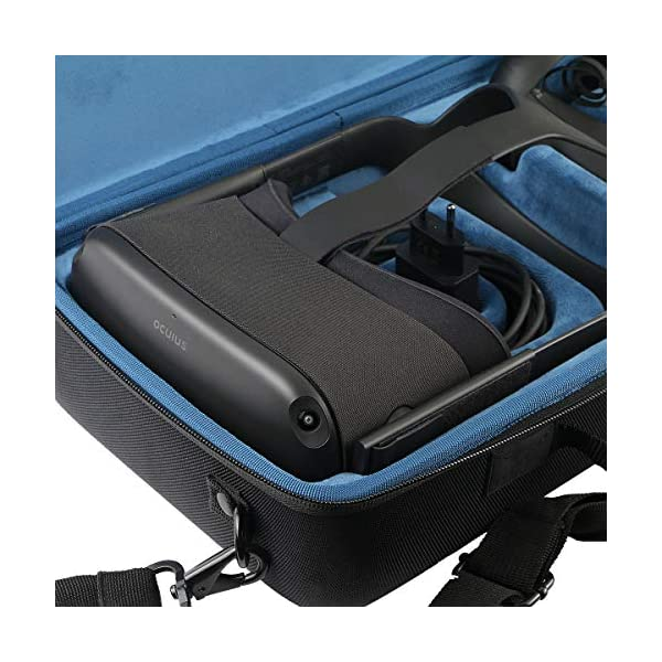 Khanka Hard Travel Case Replacement for Oculus Quest All-in-one VR Gaming Headset (Inside Blue) 4