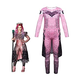 Halloween Costume for Girls Purple Party Cosplay Outfit Dress up