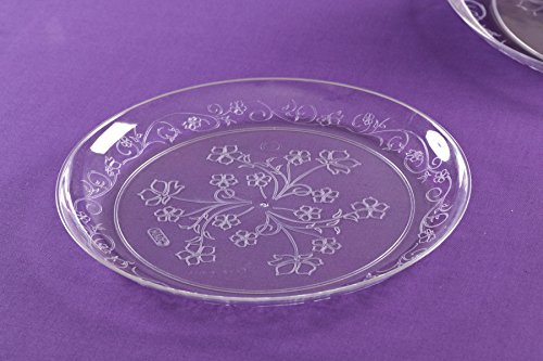 Amazon.com: Premium Quality Heavyweight Plastic Plates China Like. Wedding and Party Dinnerware Plastic Plates 20 count, 6.25 inch, Clear: Kitchen & Dining