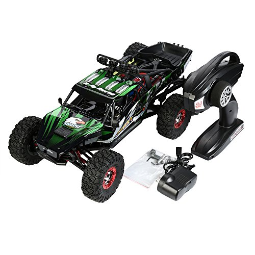 Vibola Remote Control Car 1:12 High Speed 2.4G Green Remote Control High Battery RC Desert Off-Road Racing Car by Vibola®
