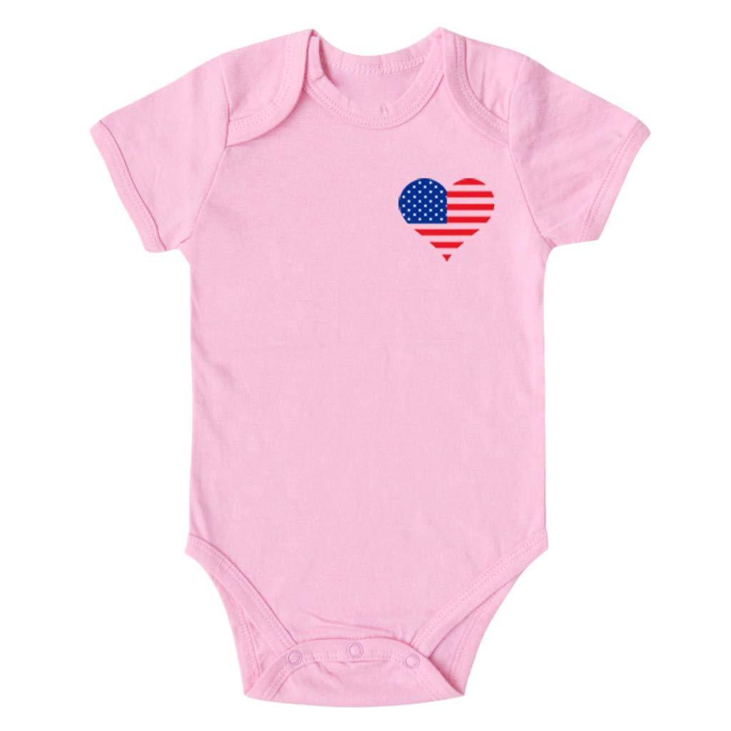 Shusuen Clothing Matching Family Swimwear Star Stripe Shirts Flag Plus Size Blouse Tops Pink