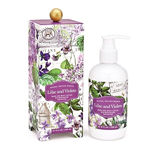 (Michel Design Works Scented Hand & Body Lotion with Shea Butter, Lilac & Violets)