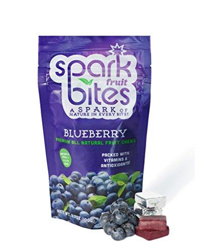 Spark Fruit Bites Blueberry Premium All Natural Fruit Chews 3.5oz pouch
