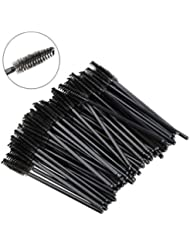 Leegoal(TM) Disposable Eyelash Brushes Wands Mascara Applicator 100 Pack (Black)